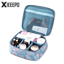 Animal Flamingo Cosmetic Bag Women Travel Function Makeup Bag Zipper Make Up Organizer Storage Pouch Toiletry Beauty Wash Case(China)