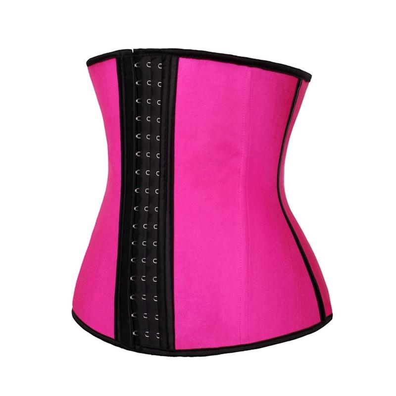 2b99e3cd76 2019 Pink Latex Waist Trainer Corsets Tummy Control Belts Waist ...