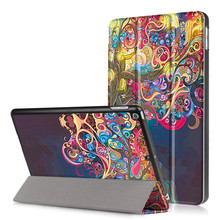 Case for iPad 2017 9.7 Colorful 3D Print PU Leather+Ultra Slim Light Weight Hard PC Back Cover for New iPad A1822 tablet case(China)