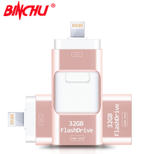 Compatible iOS10 all versions OTG Usb Flash Drive Pen Drive Pendrive Usb Stick 8GB 16GB 32GB 64GB 128GB For iPhone 5/6/7/ipad(China)