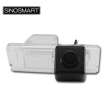 SINOSMART In Stock HD Car Rearview Parking Camera for Citroen C4 C5 Easy Installation in Number Plate Lamp Hole(China)