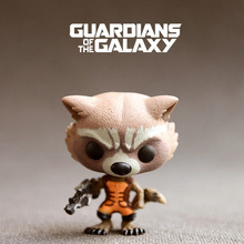 10cm ORIGINAL Genuine Funko Pop! Hot Rocket Raccoon Sci-Fi Film Guardians of The Galaxy Funko Decorative Model Kids Gifts