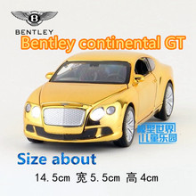 1:32/Simulation Diecast model toy car /Bentley continental GT/have lighting & music/for children's gifts or collection/Pull back