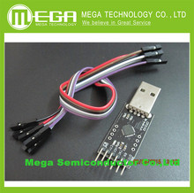 Free Shipping 5PCS/LOT+ CP2102 module STC Download USB to TTL Send Dupont Line,cp2102 module