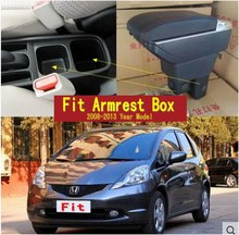 For Honda Fit Jazz 2nd generation armrest box central Store content Storage box with cup holder ashtray USB interface 2008-2013(China)