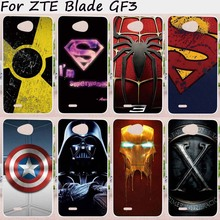 Mobile Phone Cases For ZTE Blade GF3 Cover 4.5 inch T320 Cases Soft TPU Silicon Colorful Superman Anti Skidding Bag Skin Housing