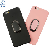 KRY Luxury Phone Cases for iPhone 6 Case Cute Candy Color Protective Phone Holder Kickstand Cover for iPhone 6s Case Capa Coque(China)