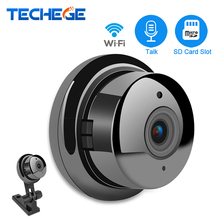 Techege 960P 360 Wide Angle VR Wireless Mini WIFI Night Vision Smart Home Security 1.3MP IP Camera Onvif Monitor Baby Monitor
