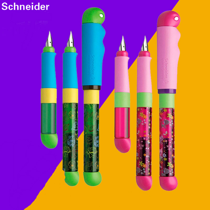 Germany Schneider Fountain Pen Correction Pen Rainbow Pen BASE KID Ink Cartridge Student Children Calligraphy Gift Set<br>