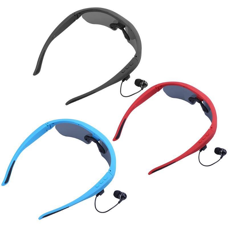 Alloyseed Wireless Bluetooth Smart Sunglasses Earphone Stereo In Ear Earpiece Music Bluetooth Headset with Microphone <br>