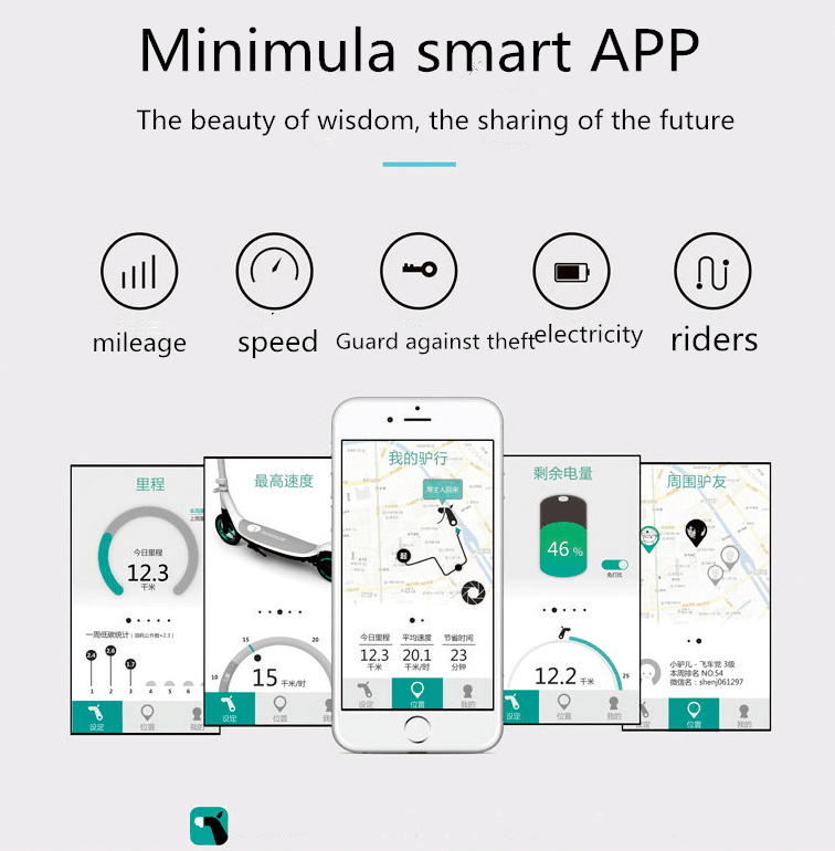 Surpass  XIAOMI smart electric scooter  patinete electrico city elektro scooter trottinette electrique adulte Have the app