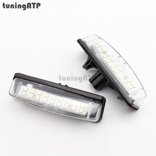 18-SMD LED License Plate Light Bulb for TOYOTA Camry XV40 / Yaris XP10 / Echo / Prius NHW11 / Previa / Ipsum / Avensis Verso(China)