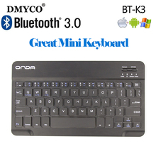DMYCO BT-K3 Wireless Bluetooth Keyboard 7 inch QWERTY 59 Keys Micro USB Keyboard Handheld PC Keyboard For Tablet Android Windows(China)