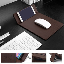 Besegad Mouse Mat Qi Wireless Charging Pad for Samsung Galaxy S8 Plus S7 S6 Edge Note 5 Google Nexus 6 7 Nokia Lumia 1020 1050(China)