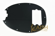 KAISH  Bass Pickguard MusicMan Stingray MM4 Scratch plate for  Music Man MM2 4 String Guitar Parts Black 3 Ply