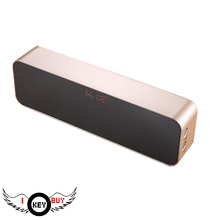 1PC High Quality High-Capacity Wireless Portable Subwoofer Car Handsfree Call LED Card Bluetooth Speaker HD Dual Horn Gold
