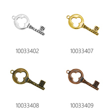 10pcs 48x20mm antique vintage old look key pendant,Skeleton Keys,blessed-100334(China)