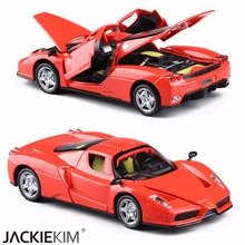 Free shipping Brand New High simulation model 1:32 alloy Enzo racing car with pull back Musical Flashing For baby Gifts Toys