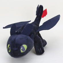 "13"" 33cm Anime  How to Train Your Dragon Plush Toy Toothless Night Fury  Soft Stuffed gifts"
