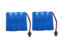 2pack 4.8v rechargeable battery 1400mah ni-cd battery nicd aa 4.8v pack 1.2v 1500mah batteries not nimh for cars 4.8v RC boat to
