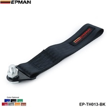 EPMAN - RED HIGH STRENGTH RACING TOW STRAP SET FOR FRONT/REAR BUMPER HOOK TRUCK/SUV EP-TH013(China)