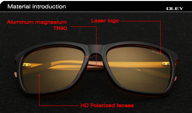4e20ddf860 OLEY Men Polarized Night Driving Sunglasses Women Brand Designer ...