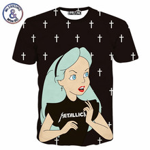 Harajuku New women's 3d t shirt cartoon Snow White Princess printed tshirts women girl summer casual tee tops clothing