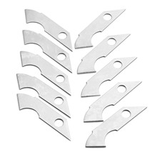 DRELD 10Pcs Acrylic Hook Knife Blade Steel Hook Blades Cutter DIY Hand Tools for ABS Plate Acrylic Board Plastic Sheets Cutting(China)