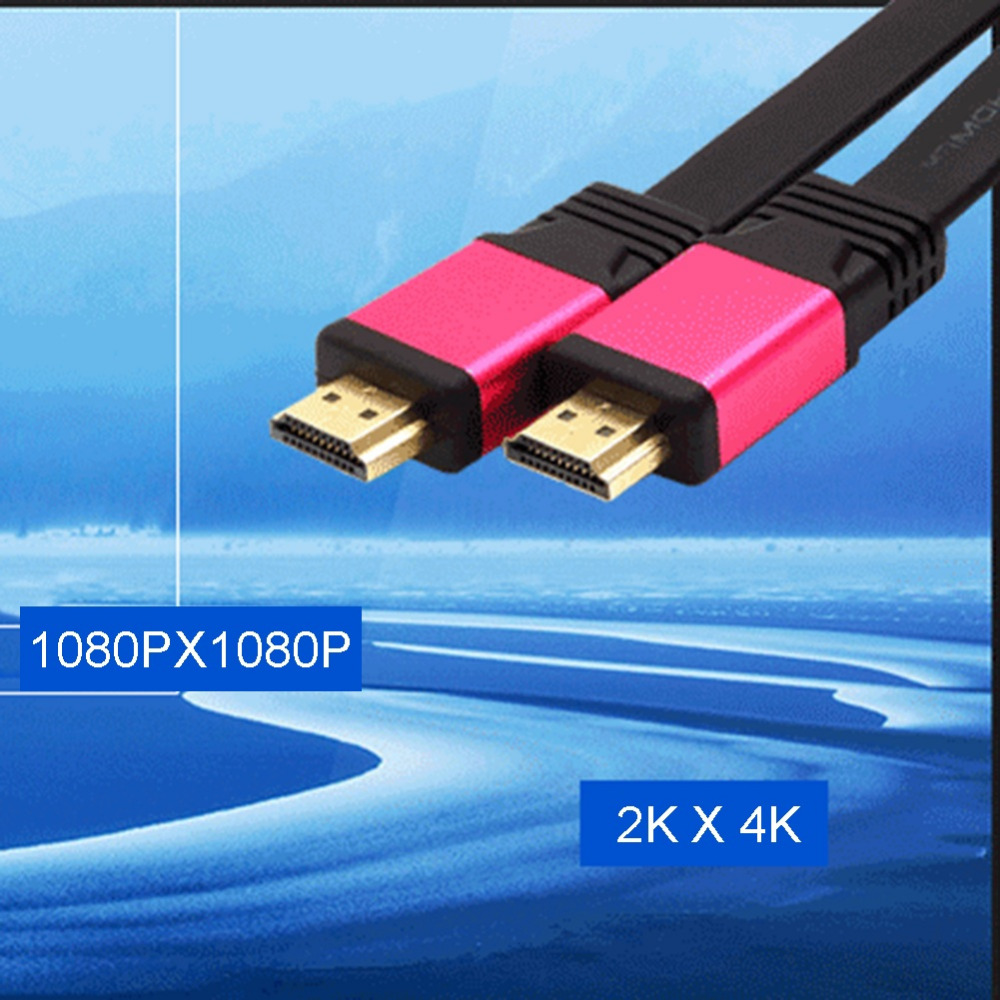 New Male to Male Hdmi 3D Cable 2.0 Version High Speed HDMI HDTV LED LCD PS4 2160P 2K 4K Flat BLURAY 18Gbps Cable 1.5m 2m 3m 5m(China (Mainland))