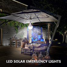 Hanging Led Solar Lamp 7W 12W Solar Lights Led Bulb E27 85-265V Rechargeable for Outdoor Hiking Camping Tent Fishing Lighting(China)