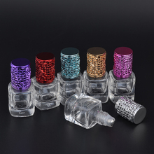 MUB - 8ml Portable Mini Travel Essential Oils Bottles Unique Glass Perfume Bottle Frascos Rellenables