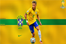 Neymar Poster Neymar JR Posters World Cup Wall Sticker Soccer Ball Wallpapers Canvas Prints Barcelona Football Stickers #1967#