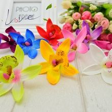 Artificial Orchid Wedding Home Decorative Gift Flores DIY Scrapbook Crown Artificial Flower