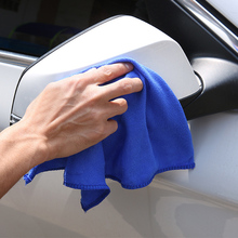 Hot New Blue 1pc 30x30cm Microfibre Cleaning Auto Car Detailing Soft Clean Cloths Wash Towel(China)