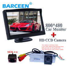 "Car backing system car rear view camera night vision+car reversing monitor 5""sereen for Renault Fluence/Megane(China)"