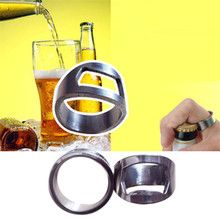 2016 New Arrival Unique Creative Versatile Stainless Steel Finger Ring Ring-Shape Beer Bottle Opener Bar Tool