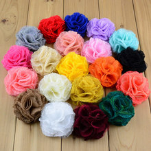 10pcs/pack hair flower with double prong alligator clip,kids 7cm lace mesh flower clips wine red peach pink coral