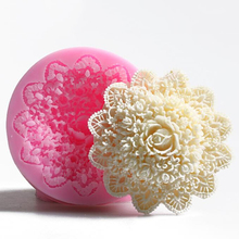 Brand New Pinkie 3D rose handmade soap silicone mold fondant cake chocolate candle moulds cake decorating mould