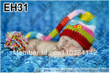 100% Cotton Wholesale Handmade Baby Pixie Elf Hat, Christmas designs,Stocking Caps perfect for photography prop EH31