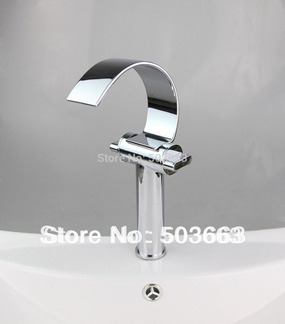 Waterafall 2 Handle Bathroom Basin Sink Mixer Vanity Chrome Finish L-6007 Mixer Tap Faucet<br><br>Aliexpress