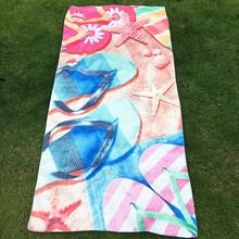 KXAAXS flip flops Shoes print Rectangular large beach towel Bohemian bath towel yoga mat for adults kids 2017 Fashion
