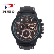 2017 New Original brand watch relojes para hombre men silicone sports watches Imitation three eyes quartz Men Military watches