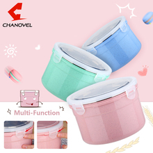 CHANOVEL 304 Stainless Steel  Lunch Food Boxs Containers With Compartments Microwave Bento Box For Kids Picnic Food Container