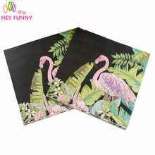 HEY FUNNY 20pcs/lot Colorful Printed Wool Napkins Party Decorative Creative Tissue Towel Paper decoration.(China)