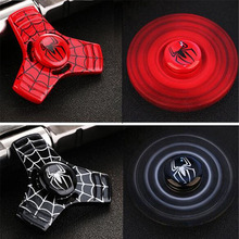 New 6 Colors Styles Captain America Spider Man Fidget Spinner Metal Hand Spinner Ceramic Bearing Spinner For Autism And ADHD