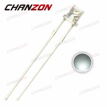 CHANZON 100pcs LED 3mm Diode White Clear Lens Flat Top Transparent 3 mm DIY LED Light Emitting Diode Lamp Electronics Components