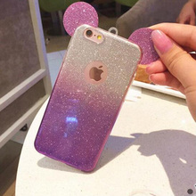 Case For iPhone 5 S G 5S SE iphone5 iphone5s iphoneSE Cover Unique Fashion 3D Ears Silicon Bling Flash Glitter powder Housing