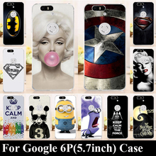 For Huawei Google Nexus 6P 5.7 Inch Case Hard Plastic Mobile Phone Cover Case DIY Color Paitn Cellphone Bag Shell  Shipping Free