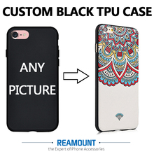 DIY Custom Printed Brand Name & Picture Black TPU Smart Phone Back Cover for iphone 7 7plus for iphone 6 6plus Cell Phone Case(China)