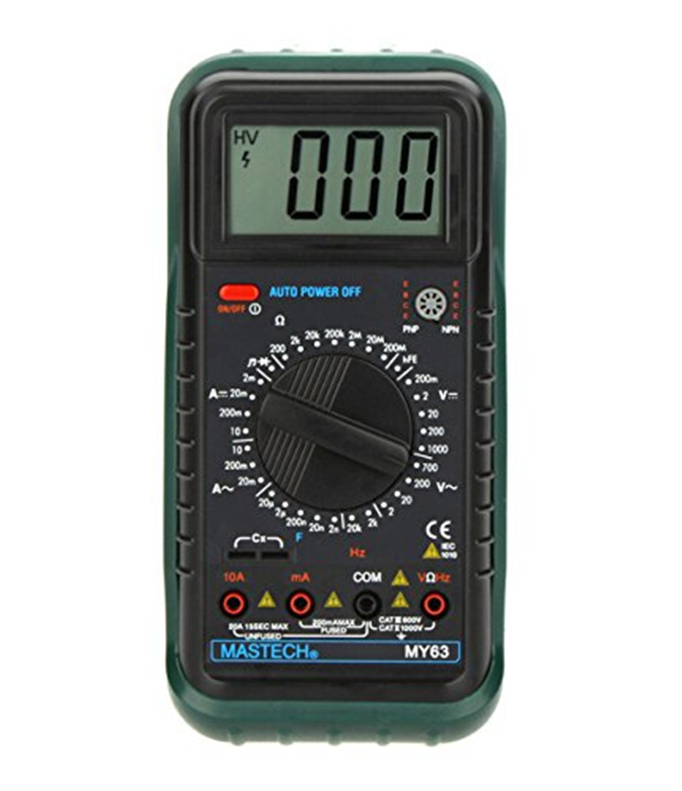 2017 High Quality 1Pc Original MASTECH MY63 Digital Auto Ranging Multimeter DMM Test Capacitance Frequency Free Shipping<br><br>Aliexpress